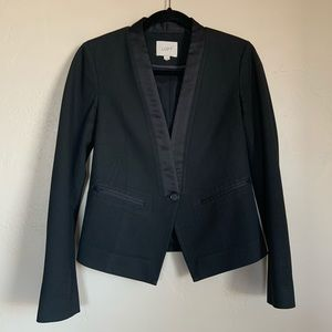 LOFT tuxedo style black womenswear blazer.